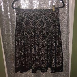 Dresses & Skirts - Black Lace Flare Skirt
